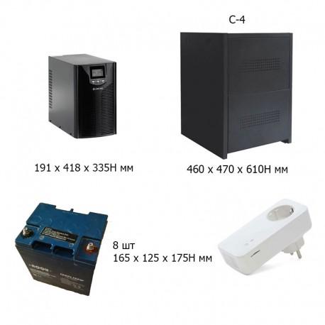 Комплект ИБП 3 кВА для котла, дома и дачи