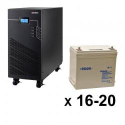 ИБП 3ф/3ф (20/55Ач) до 9 кВт - от 40 мин автономии
