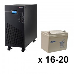 ИБП 3ф/3ф (20/75Ач) до 9 кВт - от 1 часа 10 мин автономии